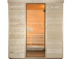 Sauna finlandese in abete nordico 120X180x205h cm - Anche per uso professionale, finiture LUXURY: ISOLAMENTO RINFORZATO: BASTANO 3kW di potenza