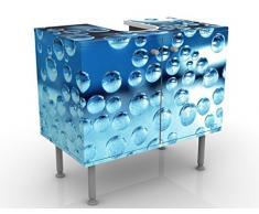 Mobile per lavabo design Dark Bubbles 60x55x35cm, basso, Larghezza: 60cm, regolabile, mobiletto da lavandino, lavandino, mobiletto da lavabo, lavabo, mobiletto, bagno, bagnetto, mobile da bagno