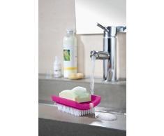koziol Daily Soap Porta saponetta con spazzolino per Unghie Rosa sólido