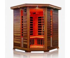Trade-Line-Partner - Cabina sauna a infrarossi, angolare! Per 4 persone, OFFERTA SPECIALE
