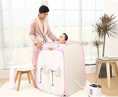 Z&HX-Sauna a vapore portatile, sauna a vapore a infrarossi Hoom, sauna per 2 persone all'aperto , white