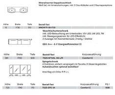 Solitaire Pelipal 7025 3 pezzi Mobile da bagno Set/lavabo/base/armadietto/Comfort E