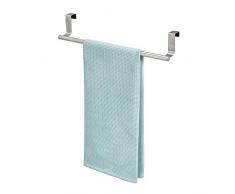 InterDesign Forma Asta portasciugamani, Grande barra per asciugamani e asciugapiatti in acciaio, argento