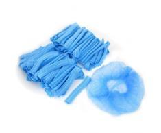 Cuffia per doccia bagno usa e getta elasticizzata azzurra non intrecciata x100