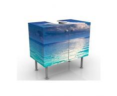 Mobile per lavabo design Blue Lagoon 60x55x35cm, basso, Larghezza: 60cm, regolabile, mobiletto da lavandino, lavandino, mobiletto da lavabo, lavabo, mobiletto, bagno, bagnetto, mobile da bagno