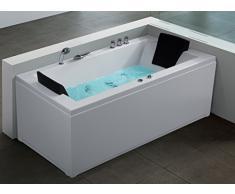 whirlpool angolare vasca da bagno bello destra o sinistra con 6 massaggio doccia led illuminazione