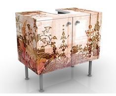 Mobile per lavabo design Old Grunge 60x55x35cm, basso, Larghezza: 60cm, regolabile, mobiletto da lavandino, lavandino, mobiletto da lavabo, lavabo, mobiletto, bagno, bagnetto, mobile da bagno