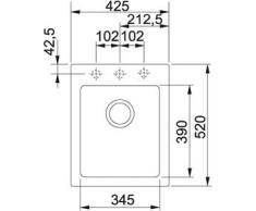 Franke Maris MRG 610 – 42 Sahara granito lavandino lavabo da incasso lavandino 50US