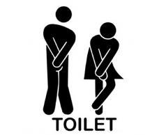 Amison Rimovibile Carina Uomo Donna Bagno Servizi igienici WC Adesivo Famiglia Decor fai da te