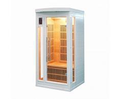 Sauna cabina ad infrarossi sole bianco 1 posto Sn-SOLEILBL1
