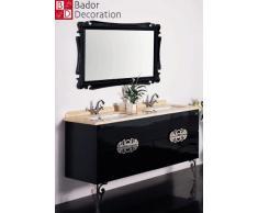 Doppio lavabo design lavabo Lusso lavabo in marmo 150 X 85 X 53 colore nero