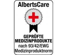 GAH-ALBERTS, Sgabello da doccia a forma di U, altezza regolabile, 400 x 380 mm, in plastica - 140823