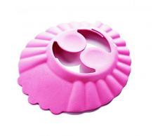 Cuffia - cuffietta da Bagno - Bambini - Bagno - Comoda - Doccia - Proteggi Occhi - Orecchie Morbida - Cuffia - cuffietta bimbi per doccia e bagno - Regolabile - Rosa Idea regalo originale - Colorata