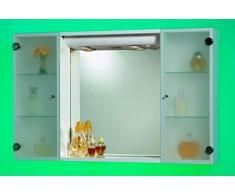 Specchiera Specchio Bagno da 94x60hx17 disponibile Bianco o Noce con ante in vetro