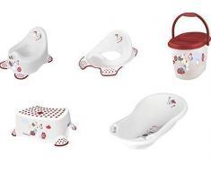 Set Minnie (5 pezzi) vasca da bagno + vasino + base WC + sgabello + secchio pannolini nuovo
