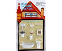 Casa Delle Bambole Miniatura 1:48 Bilancia Plastica Arredo Bagno Suite