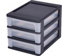 Iris 130013,0 A-4 tavolo cassetti, cassettiera con 3 cassetti, cassetti con 3 cassetti container, cassetti element senza ruote, scatola da ufficio, OCH-2030