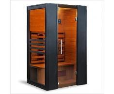 Sauna infrarossi completa di riscaldatori in Ceramica tipo C Erika Dimensioni: 120×100X190 cm.