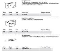 Pelipal Huevo 3 pezzi Mobile da bagno Set/lavabo/armadietto/armadio a specchio/Comfort N
