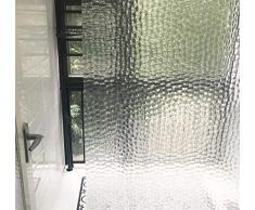 GreatFun Tende da doccia, tende da doccia resistenti alla muffa da bagno impermeabile, tende da bagno da doccia a forma di cubo d'acqua in 3D, 180 x 180 x0,5 cm
