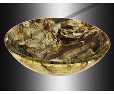 – lavabo da appoggio effetto marmo vetro lavelli e lavandini