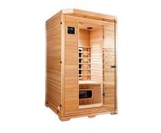 Sauna a raggi infrarossi GRENADA da 2 posti - Canadian Hemlock