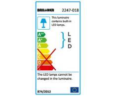 Lampada da bagno a LED, da parete, LED/5 W/IP44, cromata, 1 pezzo 5 watts