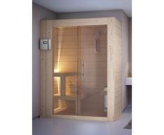 GRANDFORM sauna finlandese stufa elettrica due persone sedute HOME 1780 ( cm. 170 x 80 x 208 H.)
