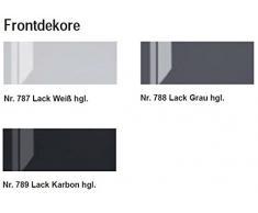 Puris brillante 3 pezzi Mobile da bagno Set/lavabo/armadietto/armadio a specchio con LED/Premium