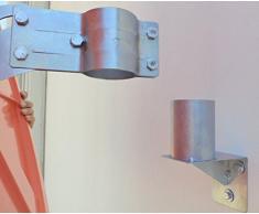 WBCM-60 Adattatore per montaggio a parete di specchi convessi, con staffa di fissaggio per palo da 60 mm