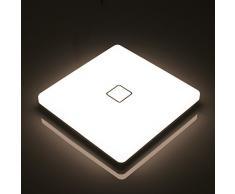 Plafoniere a LED da 24W di Öuesen, Plafoniera Lampada Quadrata Impermeabile Naturale Bianco 4000K 2050LM Plafoniere a Soffitto Moderne per Soggiorno, Bagno, Cucina e Balcone