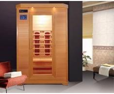 Bagno Italia Sauna a Infrarossi da cm 120x115 2 posti con luci profumoterapia radio I111
