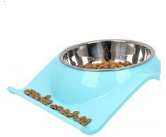 FOREVER-YOU Cane ciotola gatto ciotola gattino cane bacino Cat bacino alimentare automatico bere doppio ciotola riso lavabo, blu