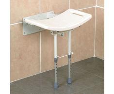 Sedile da doccia, montaggio a parete, con gambe
