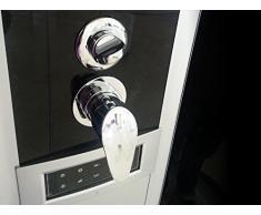 Bagno Italia Cabina box doccia Idromassaggio 120x80 con sauna bagno turco seggiolino versione destra o sinistra I