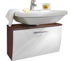 Posseik 5610 91 Santana Armadietto per lavabo in finto legno di noce, colore: Bianco
