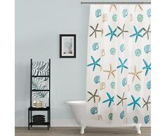 BSTT Tende da doccia antimuffa impermeabile stella marina Tenda decorativa doccia per vasca da bagno per casa e hotel 120 x 180 cm