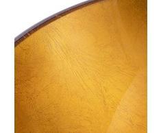 QJJML Lavandino in Vetro, Lavandino Creativo Design Oro Arancio Rotondo Bagno,A
