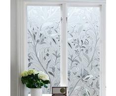 Zindoo Pellicola Privacy Per Finestre Pellicola nonadesiva per vetro Decorative Frosted Pellicola per finestre con Effetto Arcobaleno Anti-UV ,per Ufficio Casa Cucina 44.5×200 cm