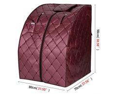 XXJY Sauna A Infrarossi Portatile Home Sauna A Raggi Infrarossi Box Da Bagno Khan Steam Box Casa Fold Sauna Dry Steaming Box Sauna E Khan Steam Box Sauna A Infrarossi Pieghevole (80X70X98Cm)