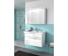 920 Pelipal TRENTINO mobili bagno-impostato (92 cm)/lavabo in ceramica/mobile basso/armadietto a specchio