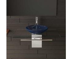 Vetro lavabo/lavabo/Blu ciotola in vetro/mobili in vetro/lavaggio platzl oesung/lavabo/Bagno gestaltung/bagno/Designer lavabo/Alpi Berger/Serie 120