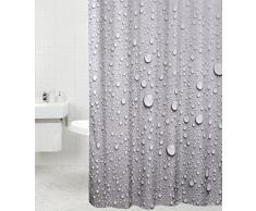 Tenda da doccia | grande scelta di belle tende da doccia di alta qualità | 12 anelli inclusi | impermeabile | effetto anti-muffa (180 x 200 cm, Dewdrop)