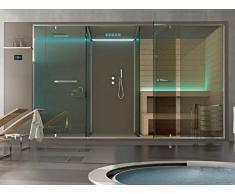 Box doccia Hafro Ethos sistema wellness con sauna spazio doccia e doccia integrata SSAET5E1SH