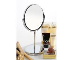 Premier Housewares Specchio da bagno cromato su piedistallo