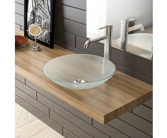 Scodella in vetro lavabo a bacinella/Latte/Latte in Vetro lavabo a bacinella Ø 460 mm/lavaggio guscio/mobili da bagno in vetro/vetro/vetro/lavandino bagno/Bagno per gli ospiti