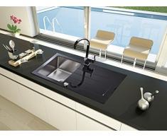 respekta vetro lavandino lavandino un'unità di vetro di New York 86 x 50 COLORE NERO