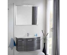 Pelipal Nito 3 pezzi Mobile da bagno Set/lavabo/armadietto/superficie specchio con illuminazione indiretta