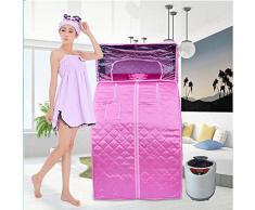 Z&HX-Sauna personale, Sauna facciale, Sauna pieghevole portatile, Sauna a infrarossi coperta , pink