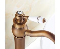 CNBBGJ Bagno di rubinetto bacino europeo di rame antico armadietto sopra altezza contatore lavabo lavare lavabo rubinetto rubinetto calda e fredda